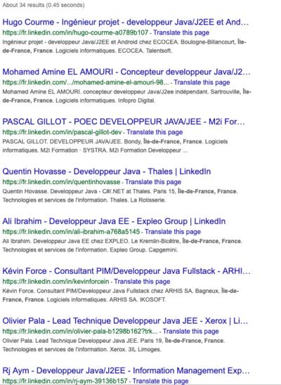 Scraping tutorial - Googlesearch/Bookmarklet/